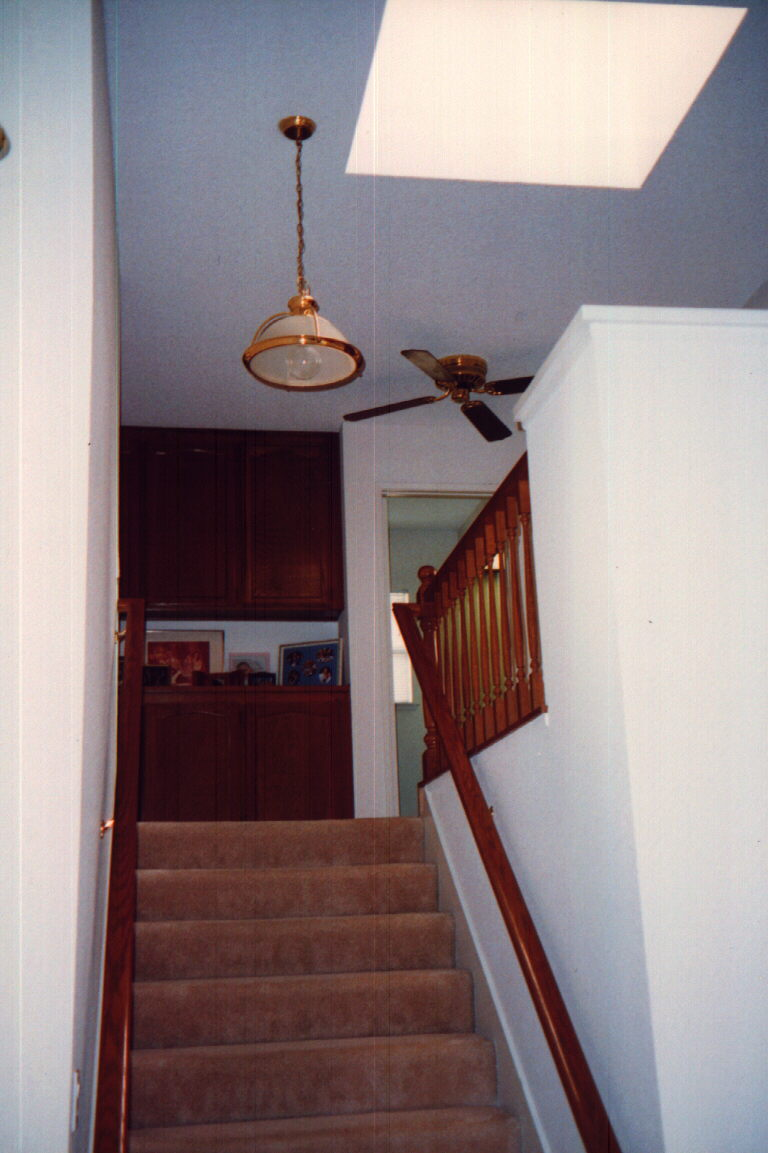 Large open stair & hallway
